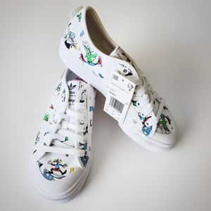 Addias Nizza x Disney Kids Childs White Sneakers